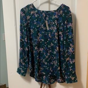 Banana Republic flowered blouse